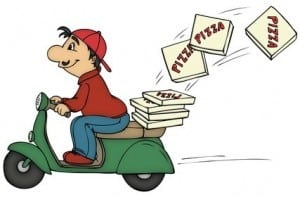 image of a pizza delivery