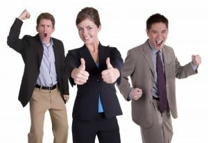 picture of successful business men and woman