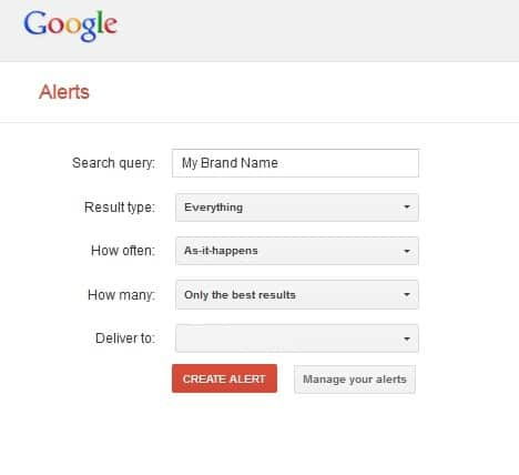 Google Alerts protecting your brand blog post