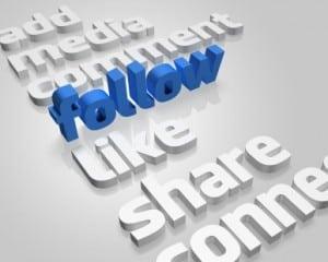Social Media follow and likes image