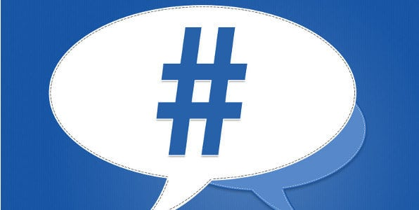 image of facebook hashtags
