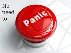 image of a panic button from Social Media How To blog post by Martin Reynolds