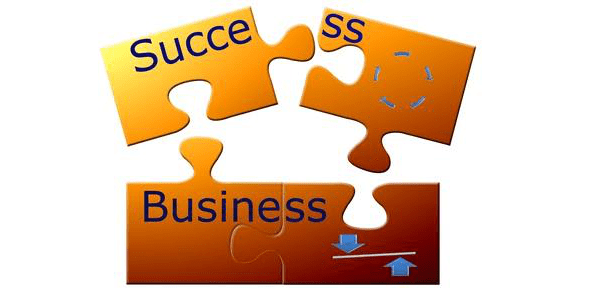 image of business success jigsaw