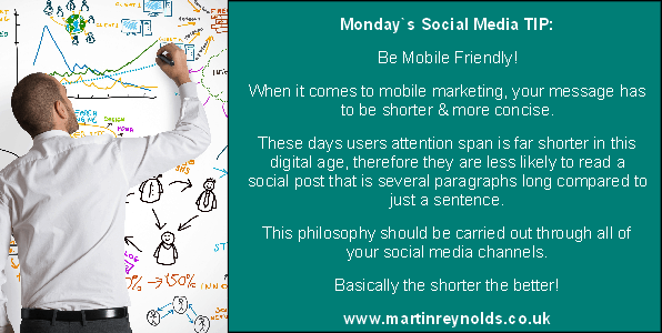 image of a social media tip by Martin Reynolds, social media strategist & consultant in Norwich