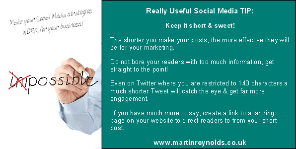 image of a social media tip from Martin Reynolds
