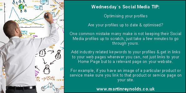 image of a social media profile tip