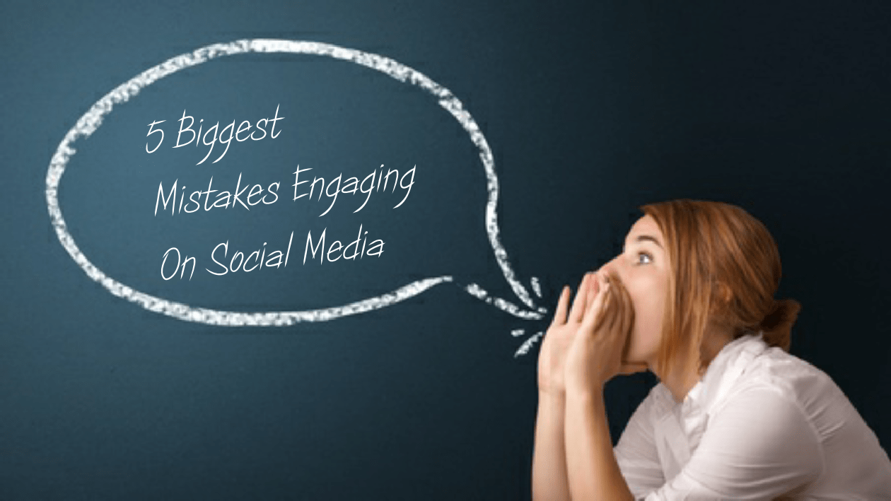 image of woman with speech bubble 5 Biggest Mistakes Engaging on Social Media
