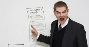 image of a businessman shouting