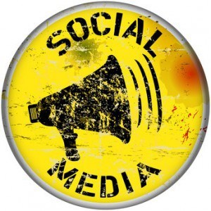 image of a social media button