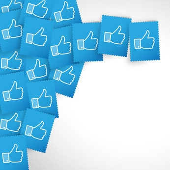image of Facebook thumbs-up stamps