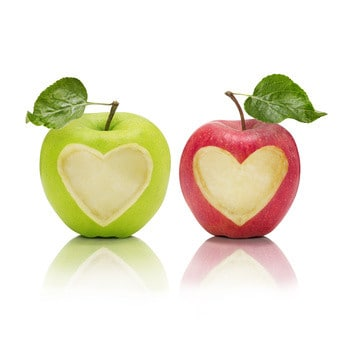 image of 2 apples