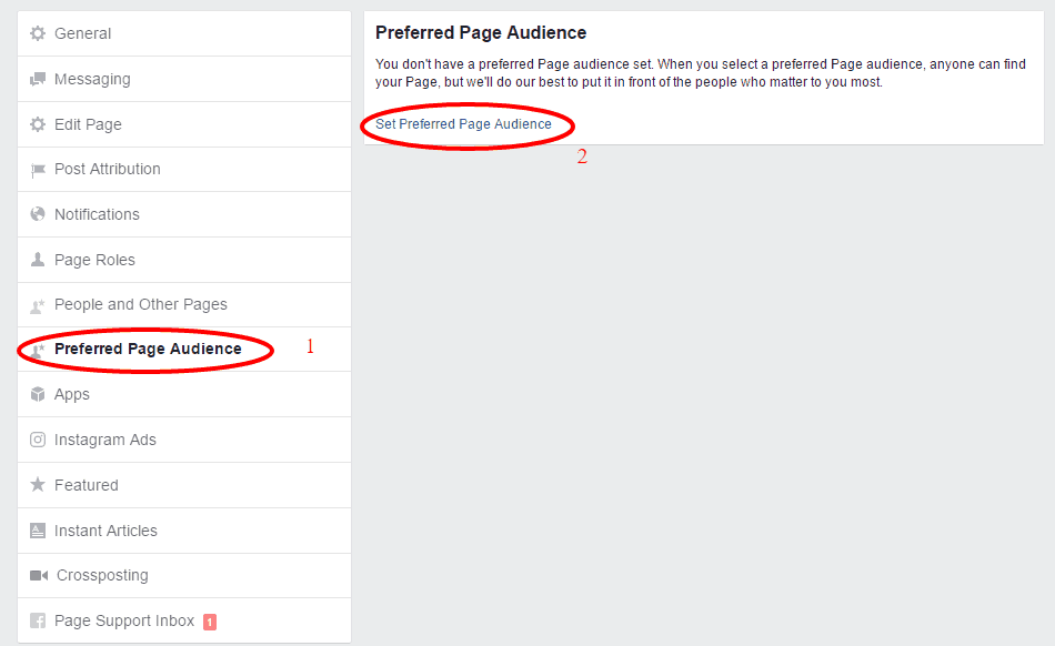 preferred page audience